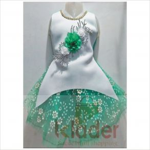 baby frock green