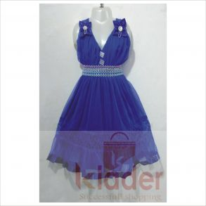 fancy frock baby 1 blue
