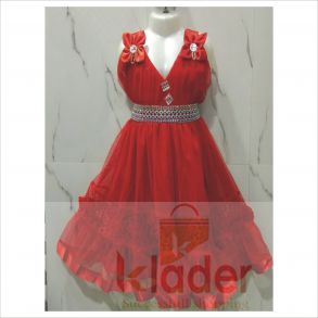 fancy frock red
