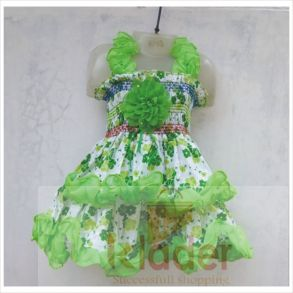 fancy frock green