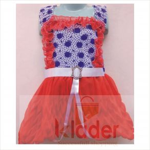 baby frock red