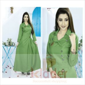 stylish rayon gowns green
