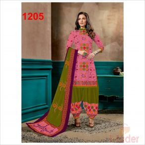 cottonn print churidhar 1205