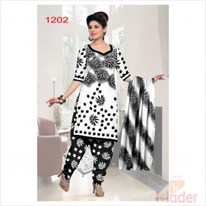 cottonn print churidhar 1202