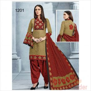 cottonn print churidhar 1201