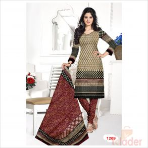 cottonn print churidhar DESIHN NO 1209