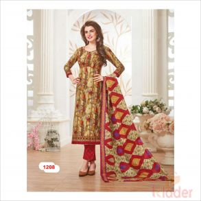 cottonn print churidhar DESIHN NO 1208