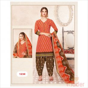 cottonn print churidhar DESIGN NO 1230