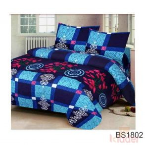 100 Polycotton Double bedsheet 2 Pillow Cover Free