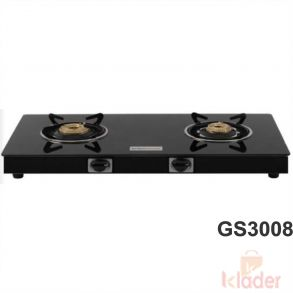 Crystal Glass Top Gas Stove Brass Burner