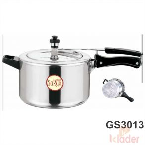 Aluminum Cooker With induction Base 3 Litre Capacity 5 Year Warranty