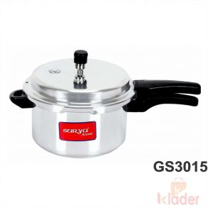 Induction Friendly Steel 5 litter Pressure Cooker 1 Year Warranty