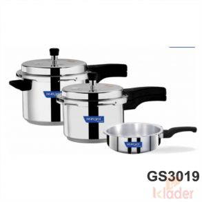 Aluminum Pressure Cooker 2 Litre 3 Litre 5 Litre Capacity Without Induction Base