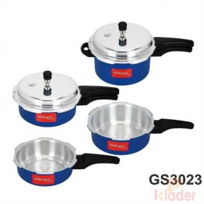 Aluminum Cooker 2 Ltrs 1 Litre 3 Litre 4 Litre Capacity with 1 Year Warranty