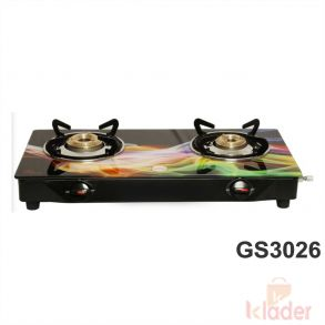 Manual Gas Stove Crystal Glass Top Brass Burner with 1 Year Warranty