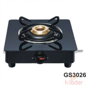 Manual Gas Stove Crystal Glass Top with 1 Year Warranty