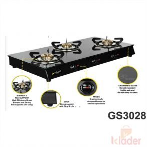 Manual Gas Stove Crystal Glass Top 1 Year Warranty 3b