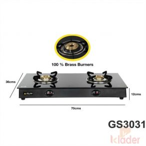 Manual Gas Stove Crystal Glass Top 1 Year Warranty