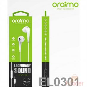Oraimo Halo E21Earphone available in White Black Colour with 6 month Warranty