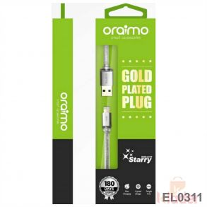 Oraimo L101 Gold Plated iphone Dta Cable available with Bill and with Warranty