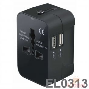 Reconnect Travel Adapter Blue MUA 2 1 A 2U TRF