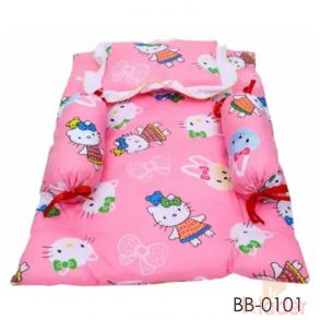 New Born Baby Bed gadhi bambo pillow set