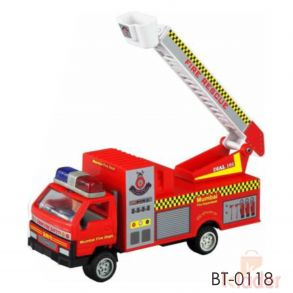 Baby Multicoloured Non Battery Fire Truck Gift Toy