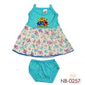 Kids Frock with Bottom Print and Brief set