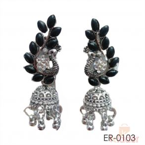 Woman German Silver Earrings