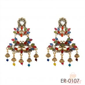 Big sized Designer Earrings multi colour