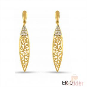 Rich Lady Fancy Designer Top Earrings For Casual Wear white