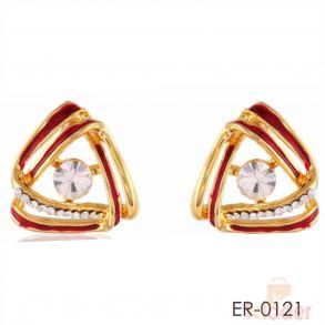 Exclusive Red Meenakari Stylish Design Earrings