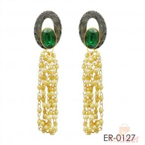 Resin Stone Green Colour Earrings