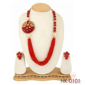 Partywear Dailywear Necklace Set Jewellers red...