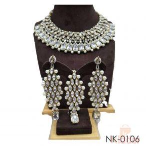 Bridal Choker with Earing and Mangtika Necklace set