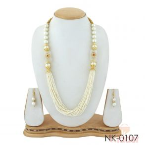 Multy Layered Beads Necklace with Earings