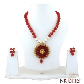 Party Wear Neckalce Set With Earrings
