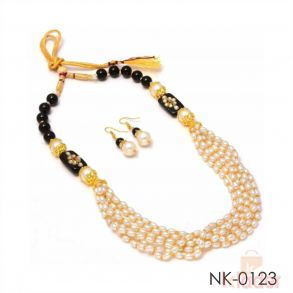 Rice Pearl Necklace Set