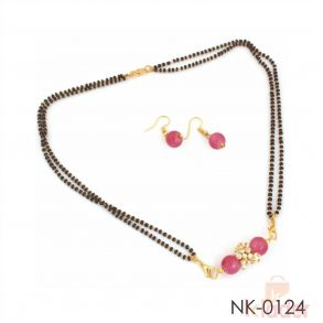 Party Wear Necklace Set With Earring