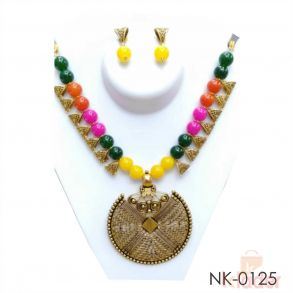 Multi Necklace with Earrings