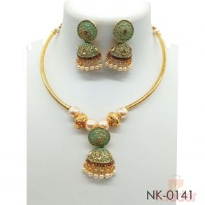 Mint Pista Green Hasli Necklace Set