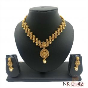 Stone Kundan Necklace Set
