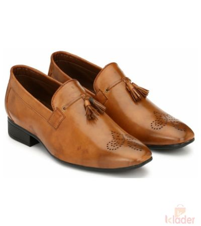 Shoematic tan corporte casual formal laceup Shoes