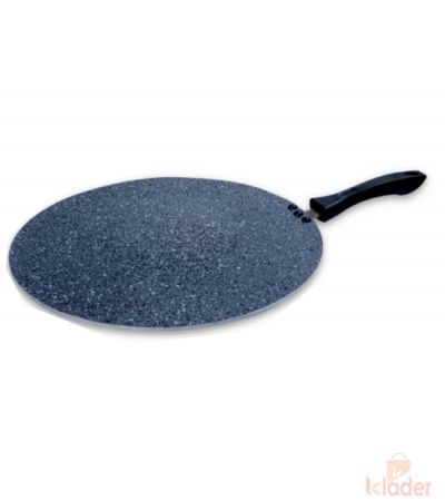 Super Cassic 4 mm Hammer tone Marble Coating Non stick Flat Dosa Tawa 33 cm