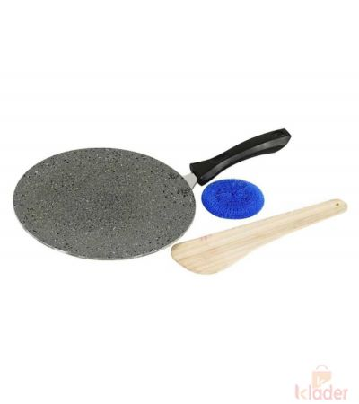 Super Cassic 2 6 mm Hammer tone Mrble Coating Non stick Concave Tawa 23 cm