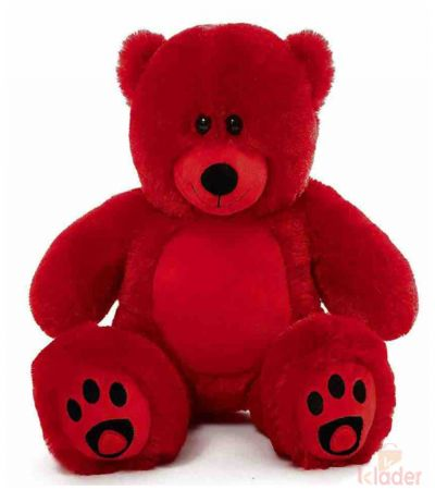 Frantic Soft Teddy Bear Red 40 cm with embroidery work