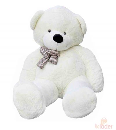 Frantic Soft Teddy Bear White Colour 115 cm