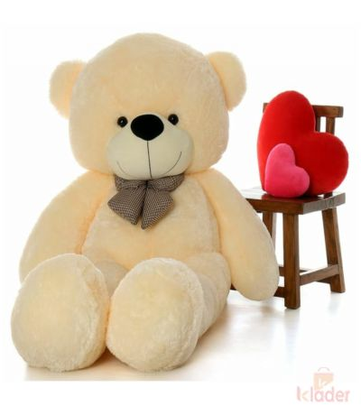 Frantic Soft Teddy Bear Butter Colour 150 cm 5 feet