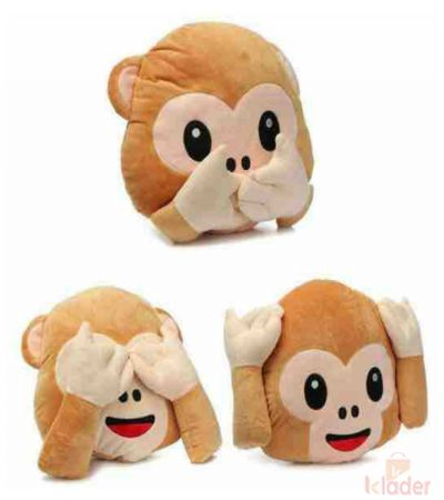 Frantic Soft Toy Monkey Pillows Pack of 3 Pieces