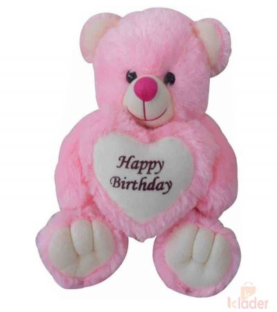 Frantic Soft Teddy Bear Pink HBD 32 cm